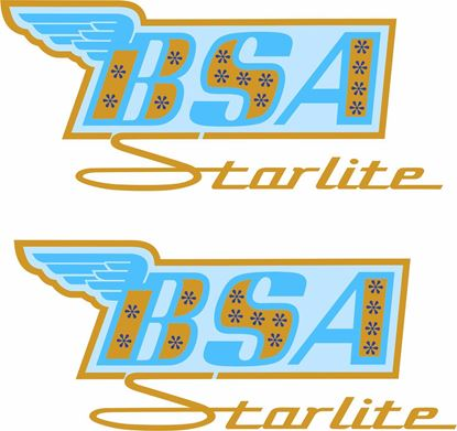 Picture of BSA  Starlite replacement Tank Decals / Stickers