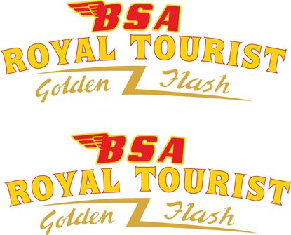 Picture of BSA Royal Tourist Top of Tank Decals / Stickers