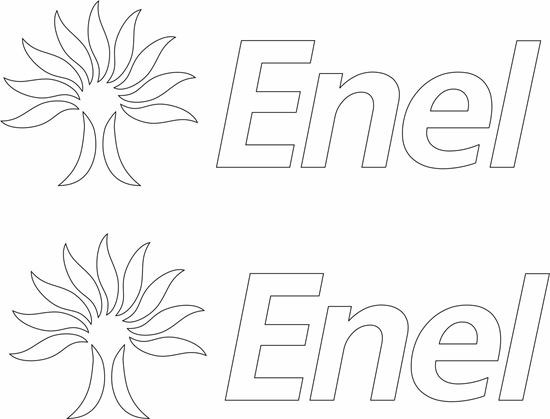"""Picture of """"Enel"""" Decals / Stickers"""