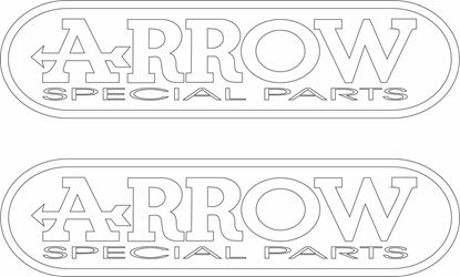 "Picture of ""Arrow Special Parts"" Decals / Stickers"