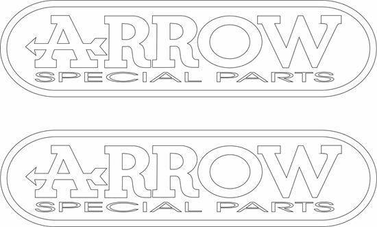 """Picture of """"Arrow Special Parts"""" Decals / Stickers"""
