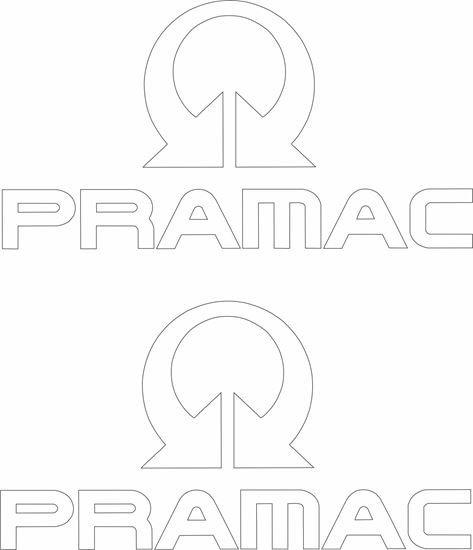 """Picture of """"Pramac"""" Decals / Stickers"""