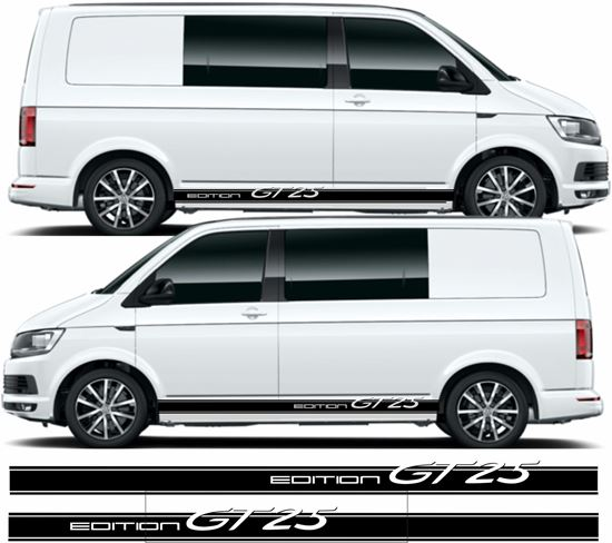 """Picture of VW T5 / T6 """"Edition GT25"""" side Stripes / Stickers"""