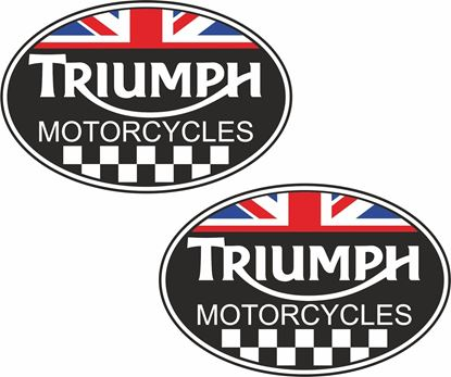 """Picture of """"Triumph Motorcycles""""  Decals / Stickers"""