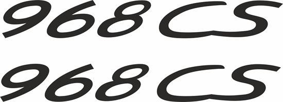 "Picture of Porsche ""968 CS""  General panel Decals / Stickers"