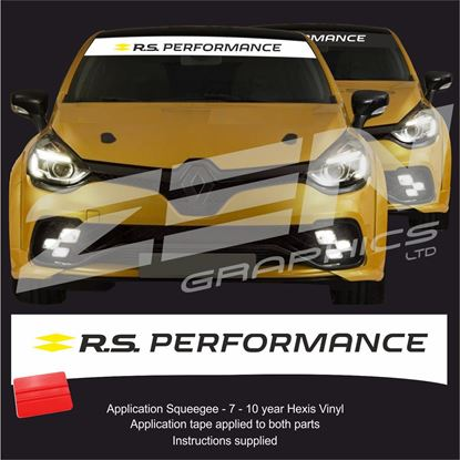 "Picture of ""R.S. Performance"" Sunstrip  / Sticker"