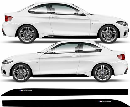 "Picture of BMW 2 Series F22 / F23 ""M sport"" Skirt side Stripes / Stickers"