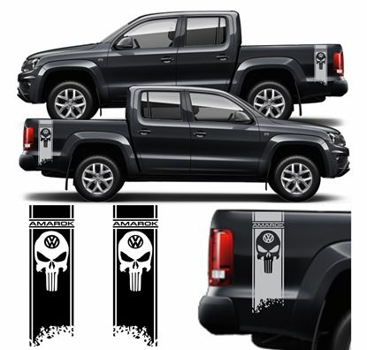 """Picture of Amarok """"Punisher"""" side Bed Stripes / Stickers"""