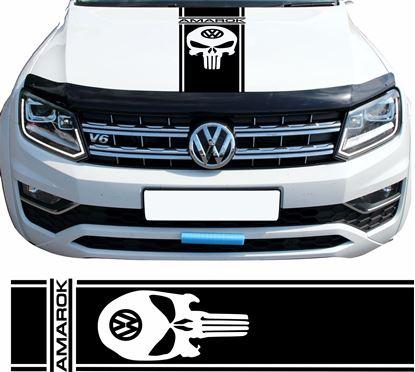 """Picture of Amarok """"Punisher"""" Bonnet Stripe / Sticker"""