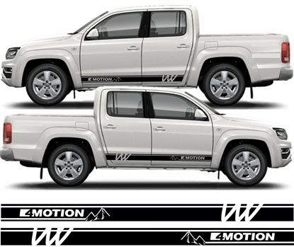 """Picture of Amarok  """"4 Motion"""" Mountain side Stripes / Stickers"""