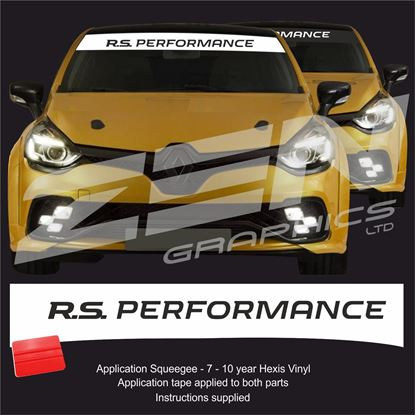 """Picture of """"R.S. Performance"""" Sunstrip  / Sticker"""