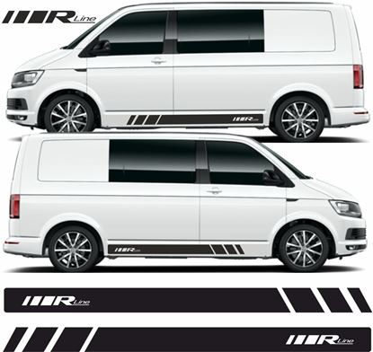 """Picture of VW T5 / T6  """"R Line""""  Stripes / Stickers"""