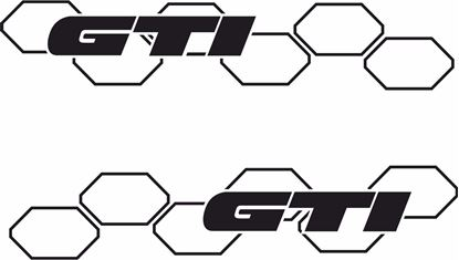 "Picture of Golf ""GTi "" Decals / Stickers"