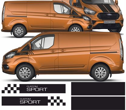 Picture of Ford Transit Custom Sport side& Bonnet Stripes  / Stickers