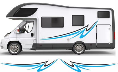 Picture of Swoosh side Camper Decals  / Stickers