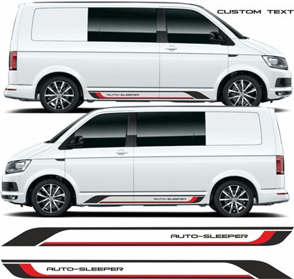 Picture of VW T5 / T6 Custom Text Stripes / Stickers