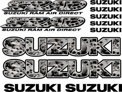 Picture of Suzuki GSX-R Srad Skull Decals / Stickers kit
