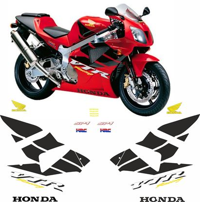 Picture of Honda VTR 1000 SP1 2000 full Restoration Decals / Stickers