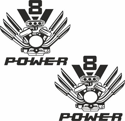 "Picture of Scania "" V8 Power"" Panel Decals / Stickers"