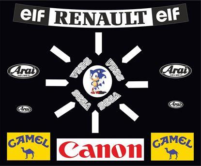 "Picture of ""Damon Hill"" 1993 F1 Replica Helmet Decal / Sticker kit"