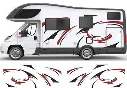 Picture of Wave Flash Camper Decals / Stickers