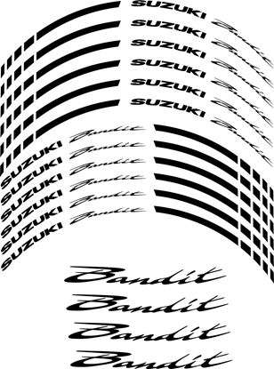 Picture of Suzuki  Bandit Inner Wheel Decals / Stickers