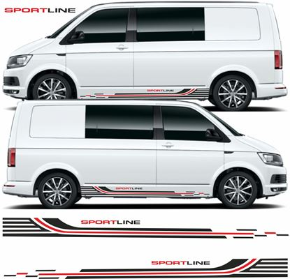 "Picture of VW T5 / T6 ""Sportline"" Stripes / Stickers"