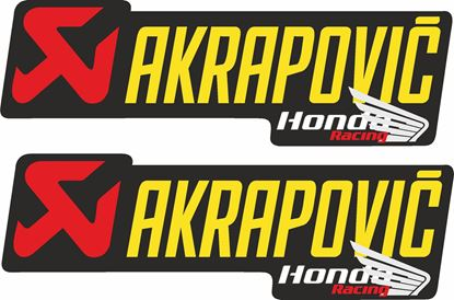 "Picture of Honda ""Akrapovic Honda Rarcing""  Decals / Stickers"
