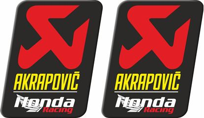 "Picture of Honda ""Akrapovic Honda Racing""  Decals / Stickers"