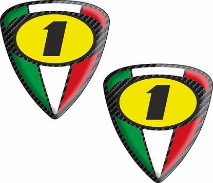 """Picture of Italia """"1"""" Shield Decals / Sticker"""