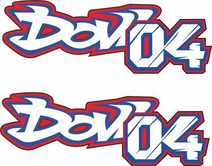 """Picture of """"04 Dovi"""" Andrea Dovizioso Decals / Stickers"""