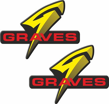 "Picture of ""Graves""  Track and street race sponsor Decals / Stickers"