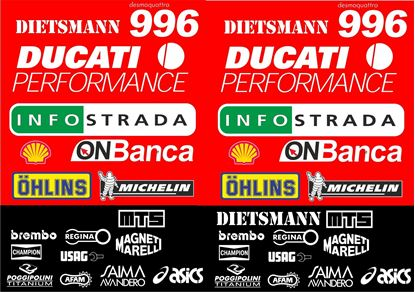 Picture of Ducati 996 / 916 / 998 Foggy WSB replica Decals / Stickers