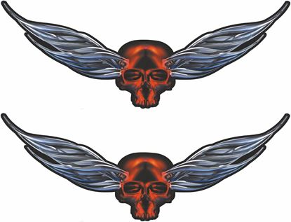 Picture of Skull Wings general panel  Decals / Sticker