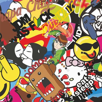 Picture of JDM Sticker Bomb Vinyl Wrap Sheet