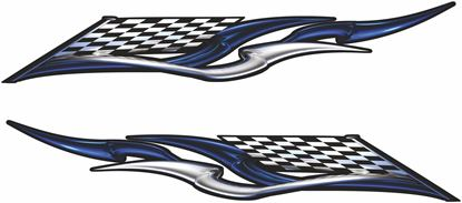 Picture of Chequered Flag Tribal general panel  Decals / Stickers