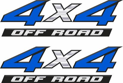Picture of 4x4 off road bevelled edge road Decals  / Stickers