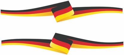 Picture of German Ribbon Decals / Stickers