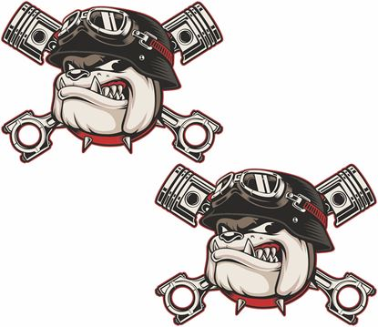 Picture of Bulldog Piston Decals / Stickers