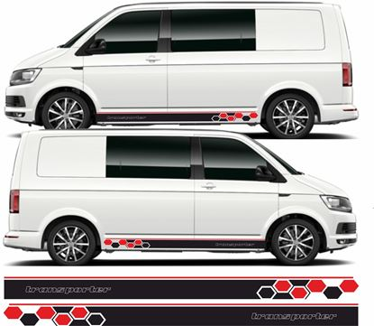 """Picture of VW T5 / T6 """"Transporter"""" Stripes / Stickers"""