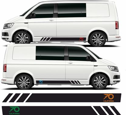 "Picture of VW T5 / T6 ""70 California"" Stripes / Stickers"
