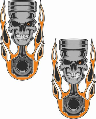 Picture of Skull Piston general panel  Decals / Stickers