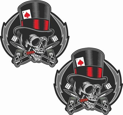 Picture of Skull Ace of Spades general panel  Decals / Stickers
