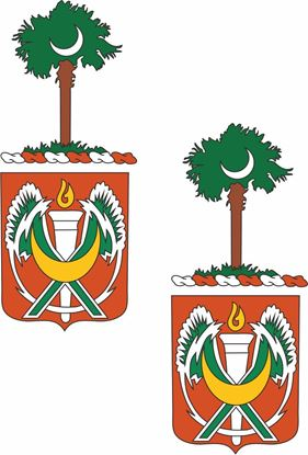 Picture of 105th Signal Battalion Coat of Arms Stickers