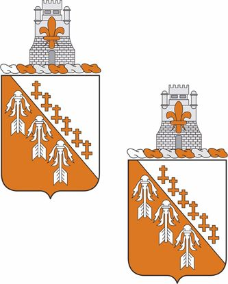 Picture of 121st Signal Battalion Coat of Arms Stickers