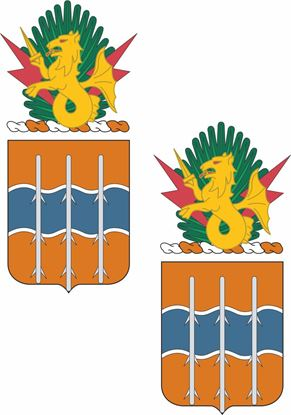 Picture of 16th Signal Battalion Coat of Arms Stickers