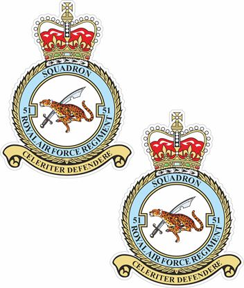 Picture of 51 Squadron RAF Regiment Stickers
