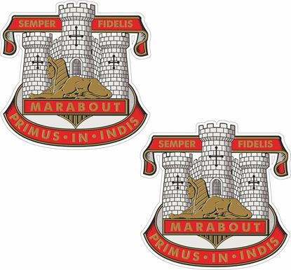 Picture of Devonshire and Dorset Regiment Stickers