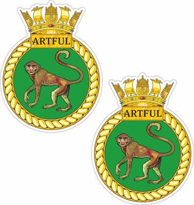 Picture of HMS Artful (S121), emblem Sticker
