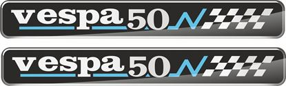 Picture of Vespa 50 100mm wide adhesive Badges